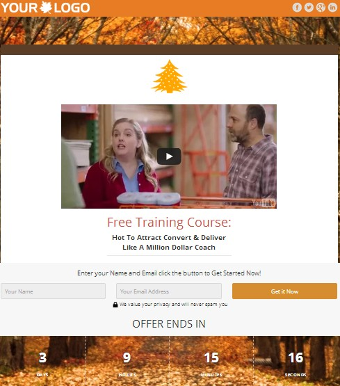 WordPress Custom Christmas Squeeze Pages